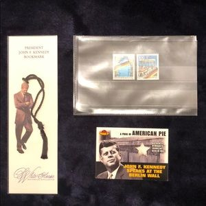 JFK Berlin Wall Pieces Bookmark Collectible stamps